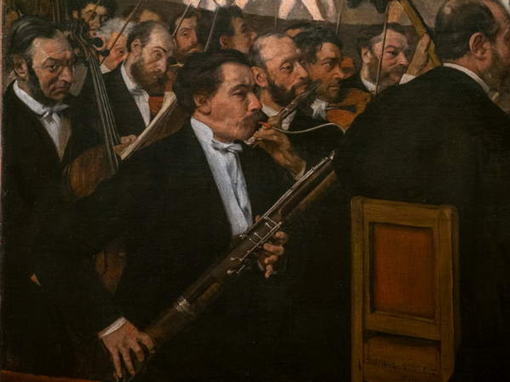 Detail of The Opera Orchestra. 1870. Oil on canvas. by Edgar Degas