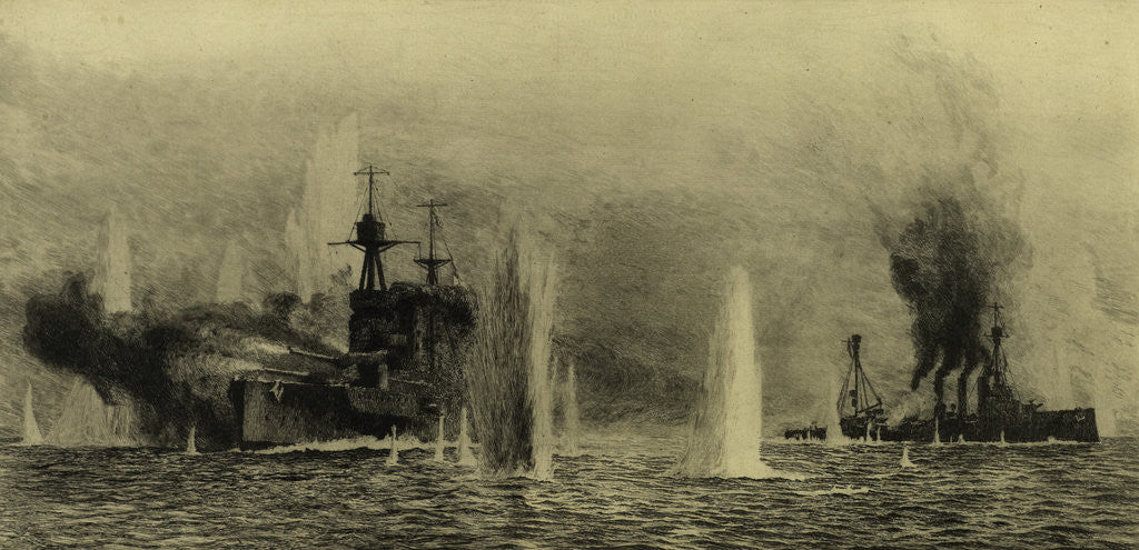 Detail of Battleships by William Lionel Wyllie