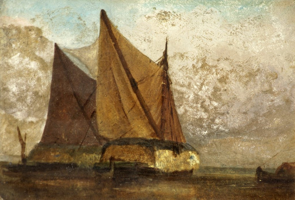 Detail of Hay Barges by Anonymous