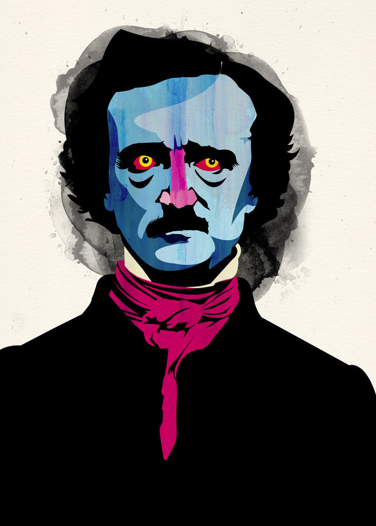 Detail of Edgar Allan Poe by Alvaro Tapia