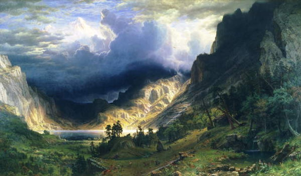 Detail of A Storm in the Rocky Mountains by Albert Bierstadt