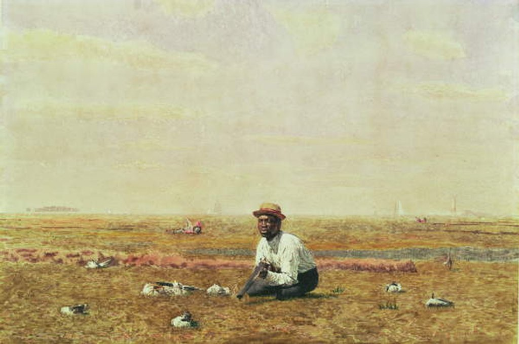 Detail of Whistling for Plover, 1874 by Thomas Cowperthwait Eakins