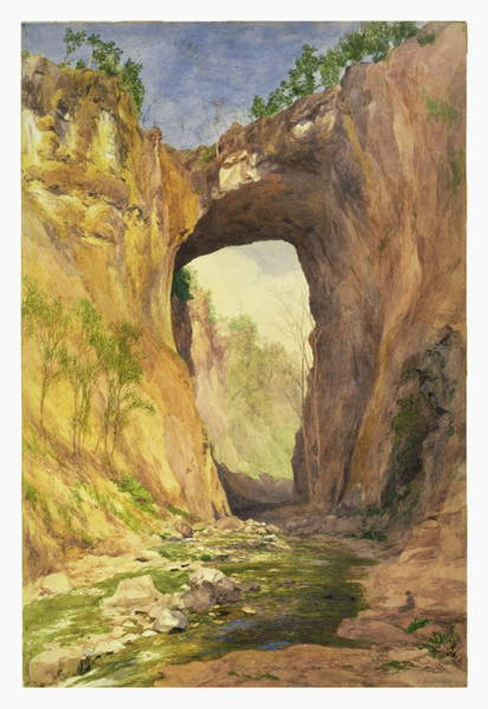Detail of Natural Bridge, Virginia, 1876 by John Henry Hill