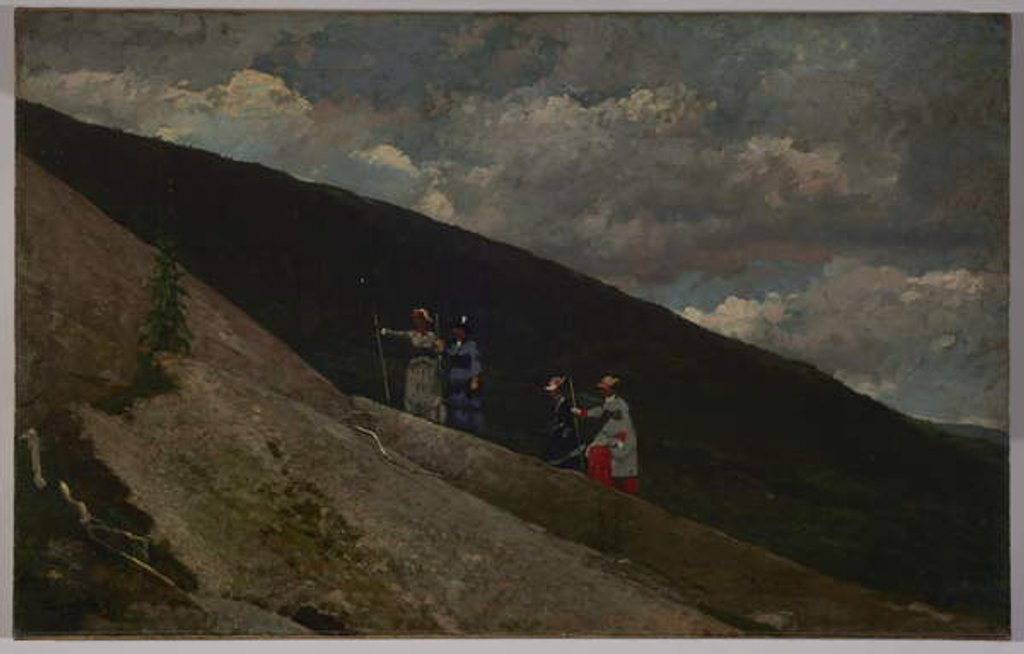 Detail of In the Mountains, 1877 by Winslow Homer