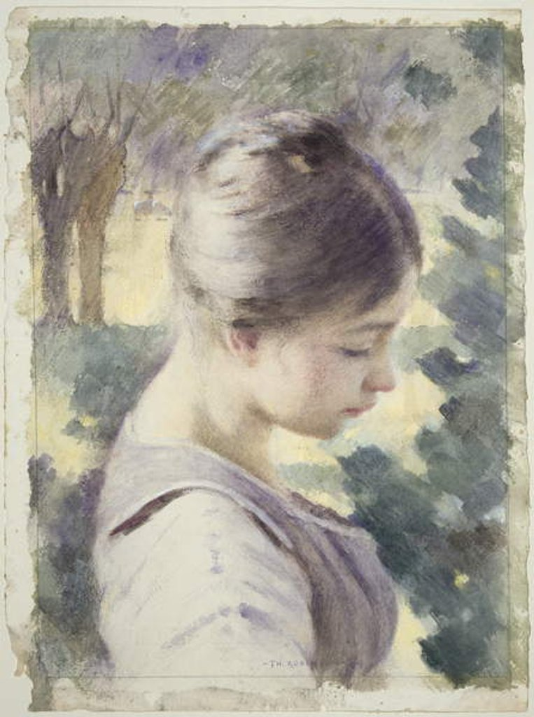 Detail of Decorative Head, 1889 by Theodore Robinson