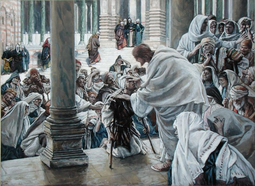 Detail of The Healing of the Lame in the Temple by James Jacques Joseph Tissot