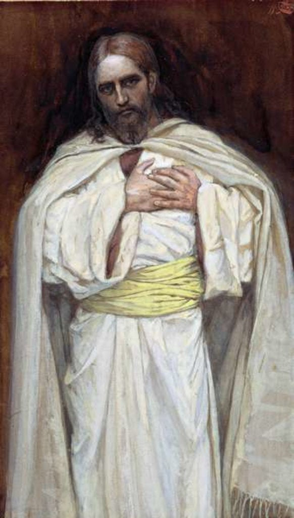 Detail of Our Lord Jesus Christ by James Jacques Joseph Tissot