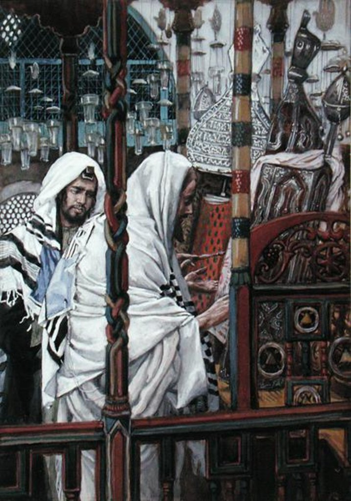 Detail of Jesus Teaching in the Synagogue by James Jacques Joseph Tissot
