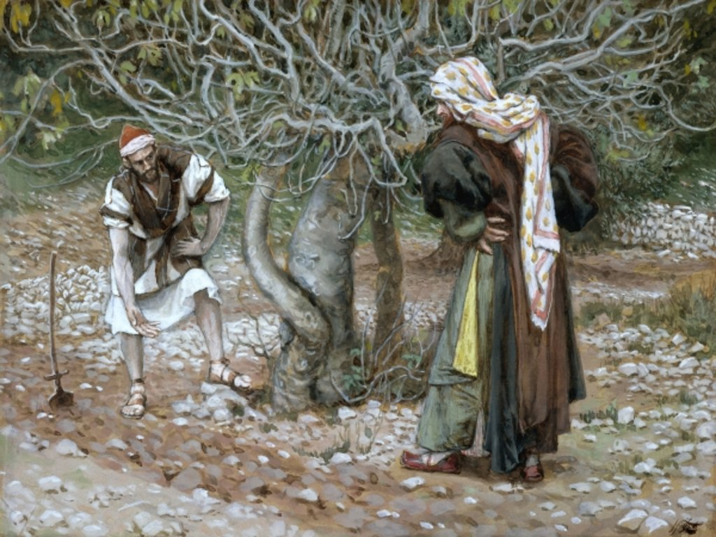 Detail of The Barren Fig Tree by James Jacques Joseph Tissot