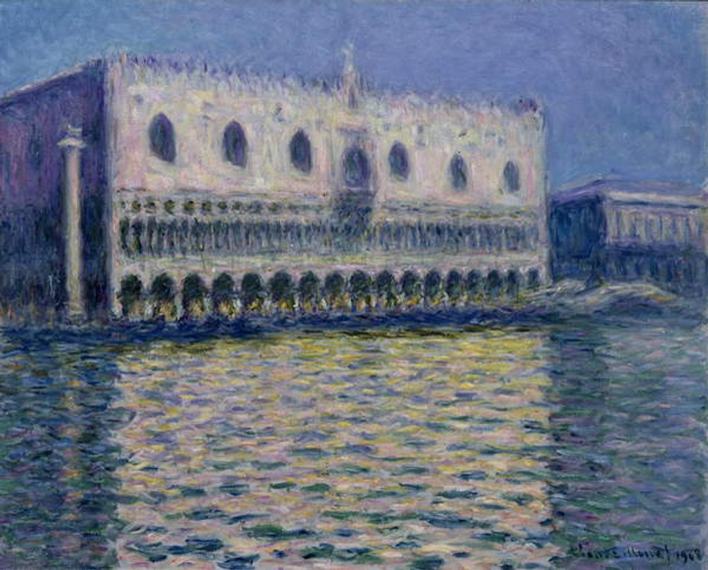 Detail of The Doge's Palace in Venice, 1908 by Claude Monet