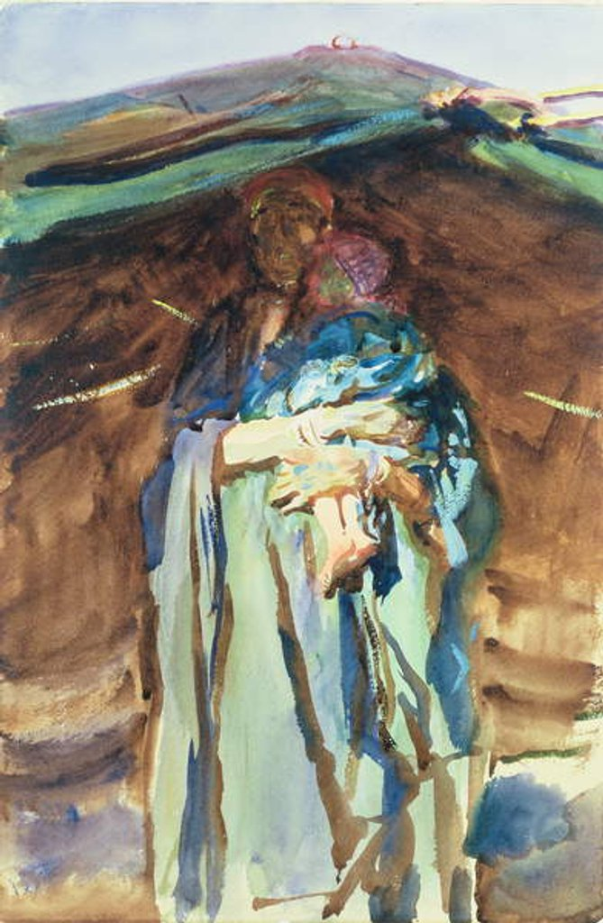 Detail of Bedouin Mother by John Singer Sargent