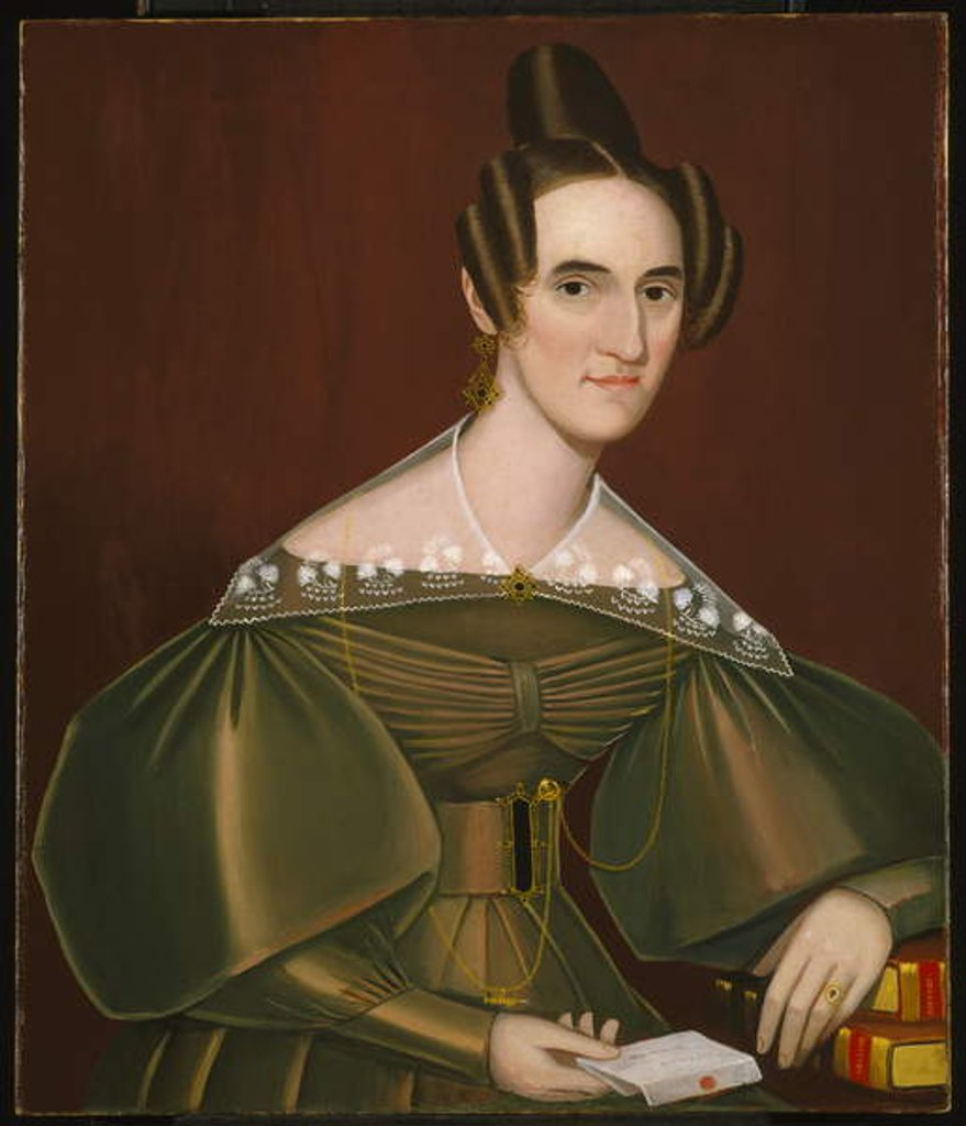 Detail of Jeannette Woolley, later Mrs John Vincent Storm, c.1838 by Ammi Phillips
