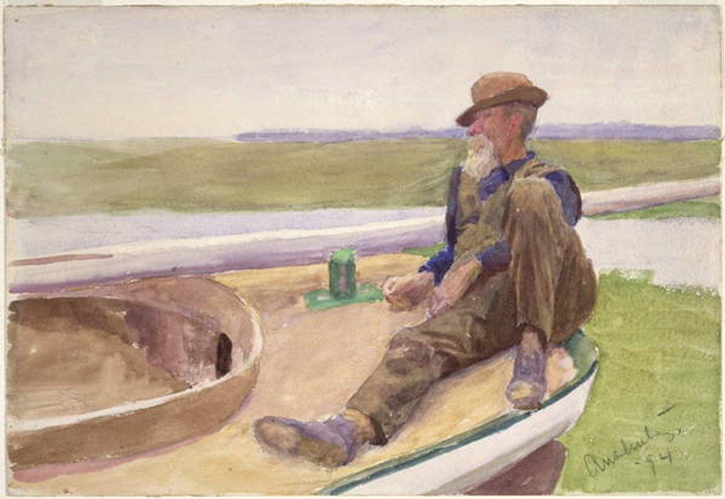 Detail of Man in Boat, 1894 by Thomas Pollock Anschutz