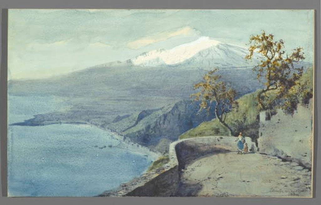 Detail of View of Mount Etna from Taormina, Sicily, 1925 by Charles King Wood