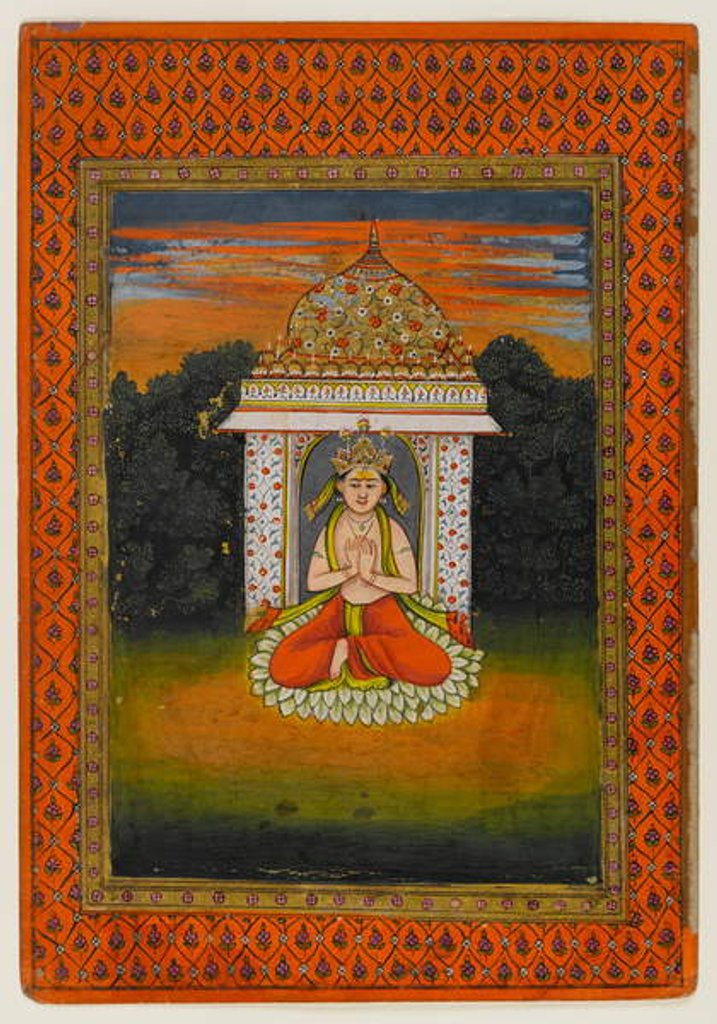 Detail of Miniature of an enshrined deity by Indian School