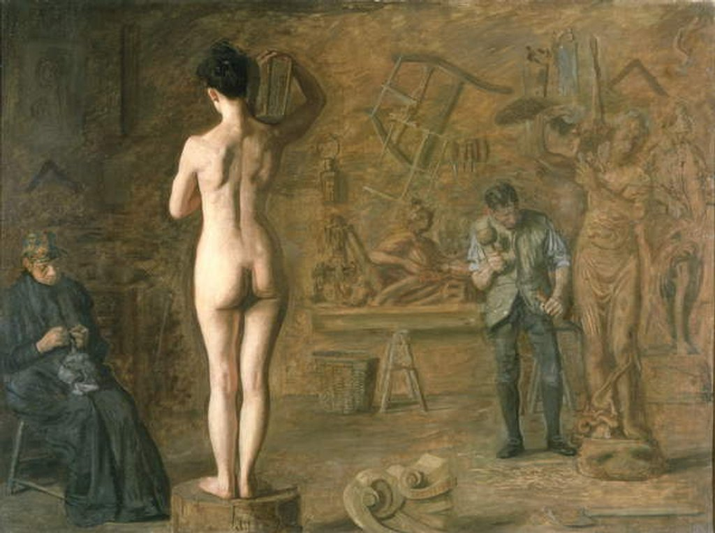 William Rush carving his Allegorical Figure of the Schuylkill River, 1908 by Thomas Cowperthwait Eakins
