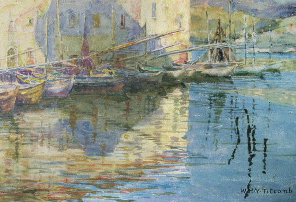 Detail of Boats in Venice by William Holt Yates Titcomb