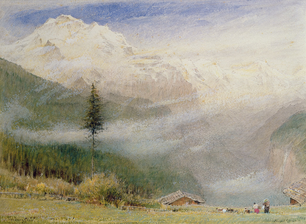 Detail of Jungfrau, 1913 by Albert Goodwin