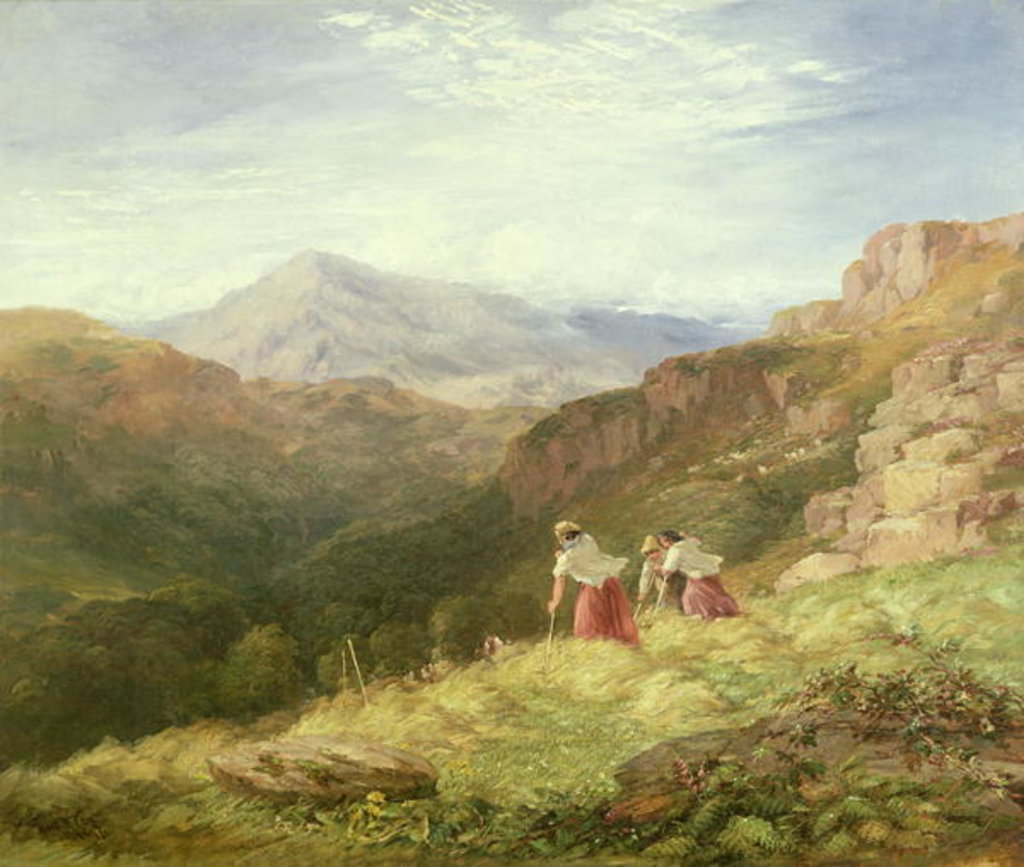 Detail of Haymaking, Snowdon, 1847 by David Cox