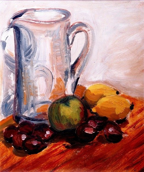 Detail of Jug with Chestnuts by Joan Thewsey