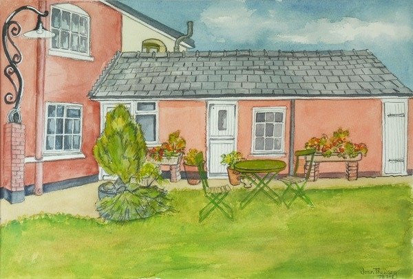 Detail of Back Garden, Red Cottage Studios, Suffolk by Joan Thewsey