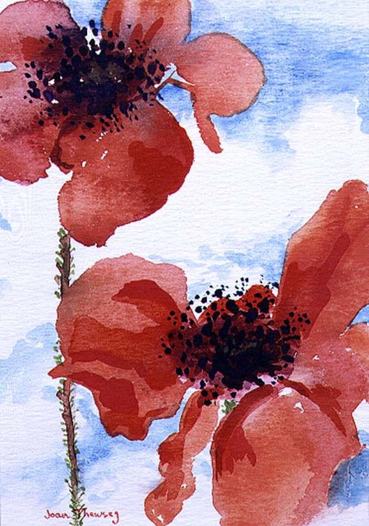 Detail of Poppies by Joan Thewsey