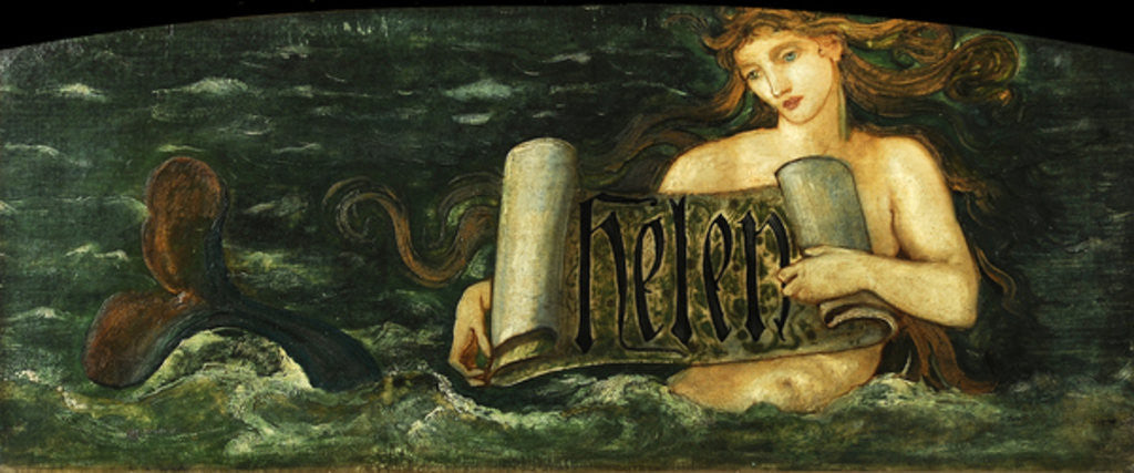 Detail of Helen, a Mermaid by Sir Edward Coley Burne-Jones