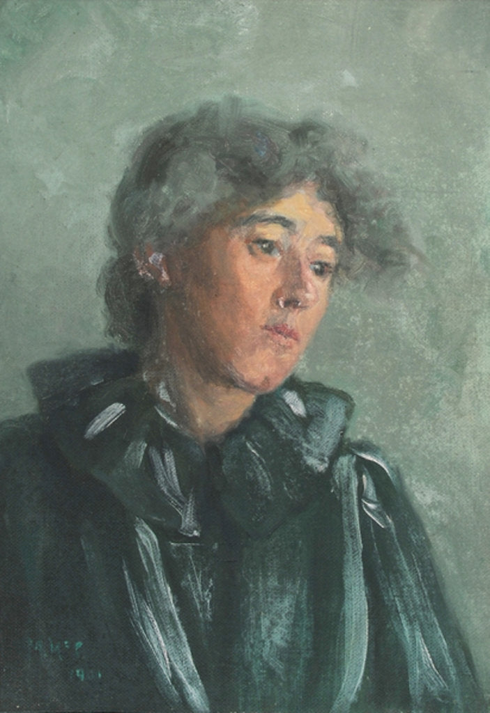 Detail of Portrait of Emily Bottomley, 1901 by Mary McCrossan