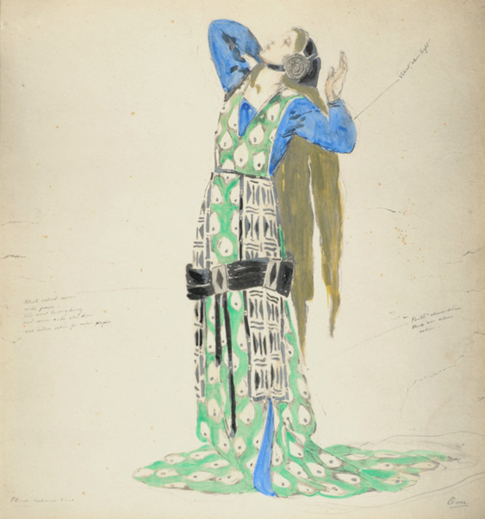 Detail of Costume Design for Bellengere in 'Le Mort de Tintagiles' by Charles Ricketts