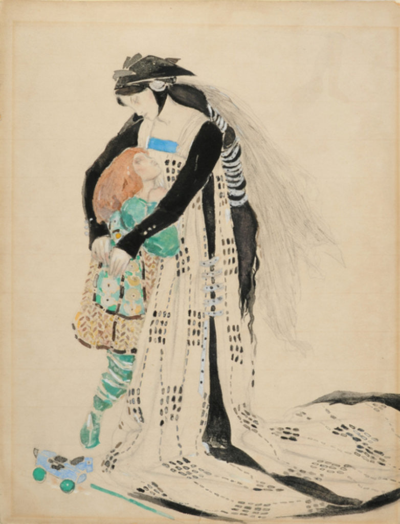 Detail of Costume Design for the Death of Tintagiles by Charles Ricketts