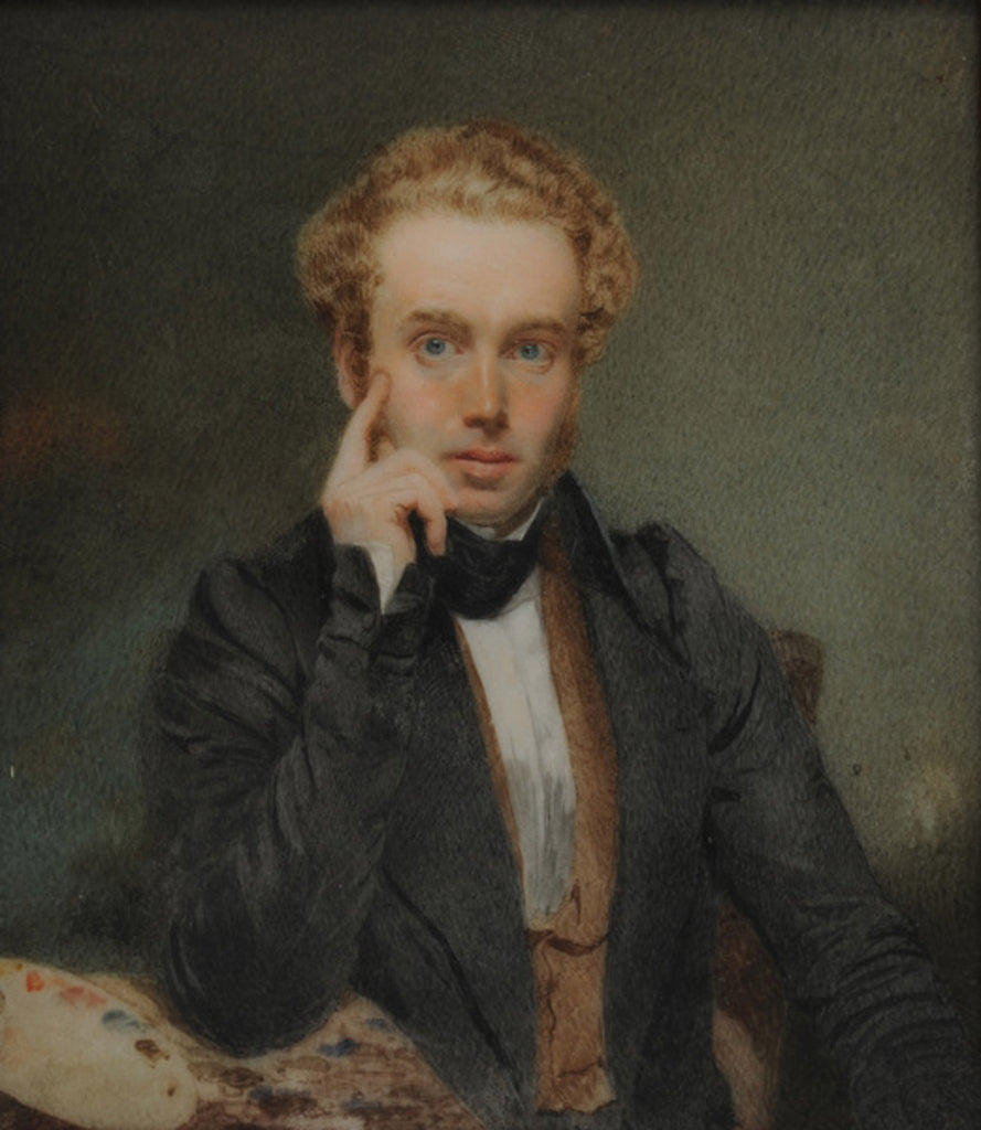 Detail of Self-Portrait by Thomas Heathfield Carrick