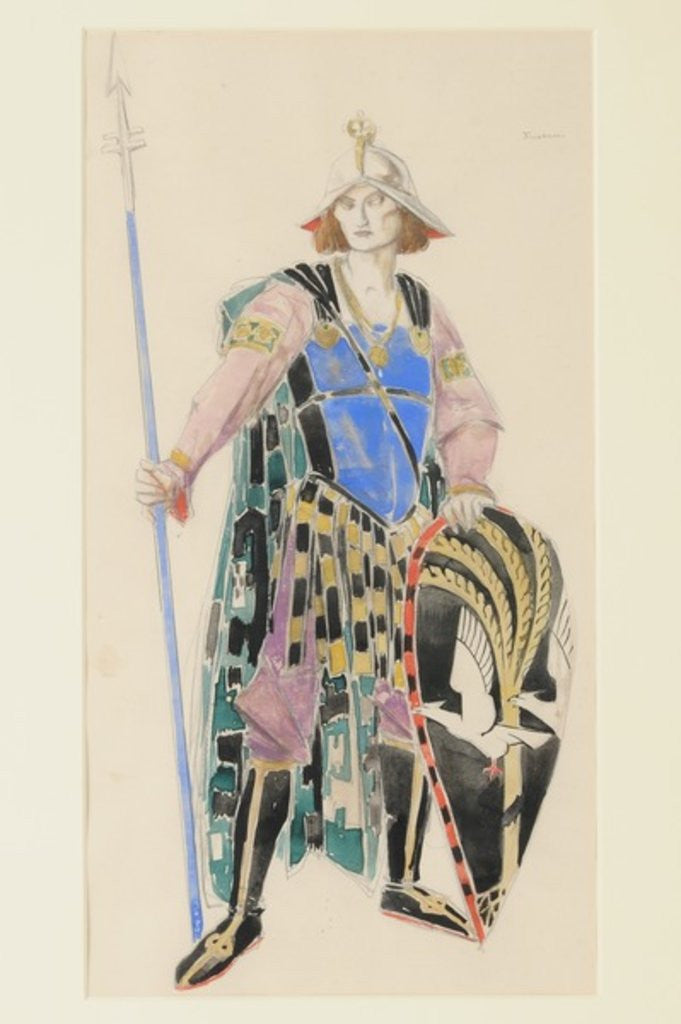 Detail of Costume Design for Tristan by Charles Ricketts