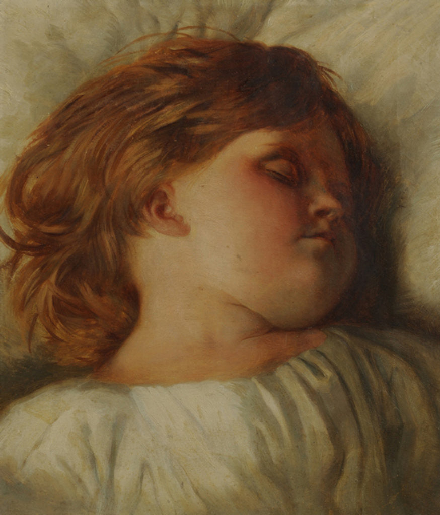 Detail of The Sleeping Child - A Granddaughter by William Strutt