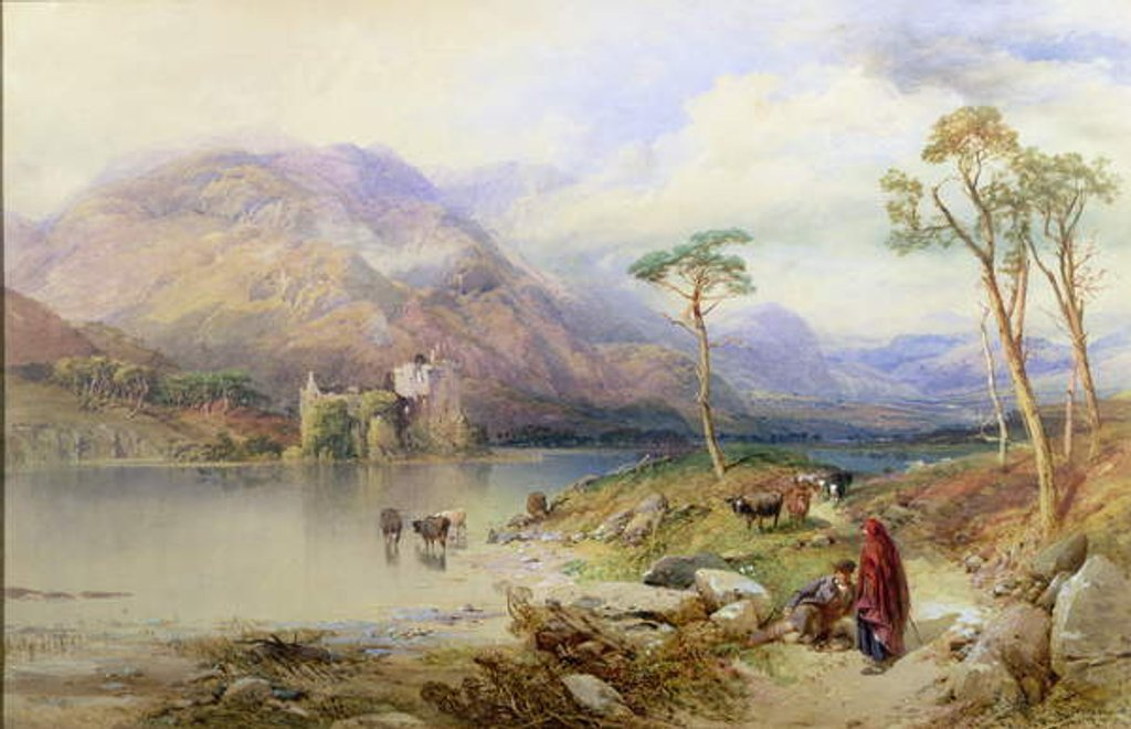 Detail of Kilchurn Castle on the Loch Awe by Thomas Miles Richardson