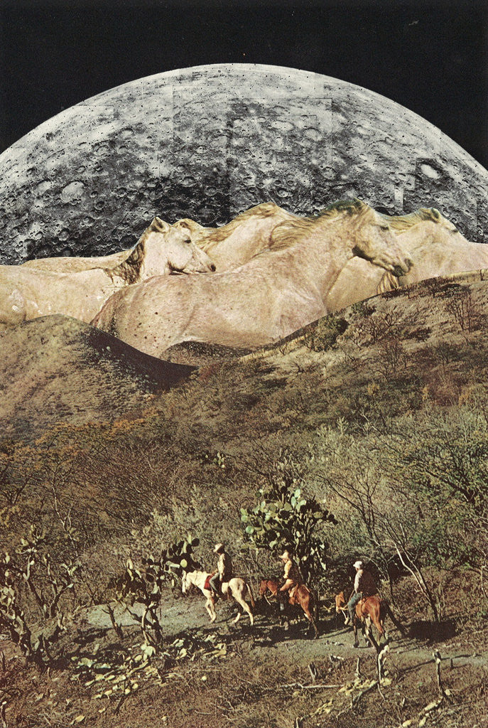 Detail of Wild Horses by Jesse Treece