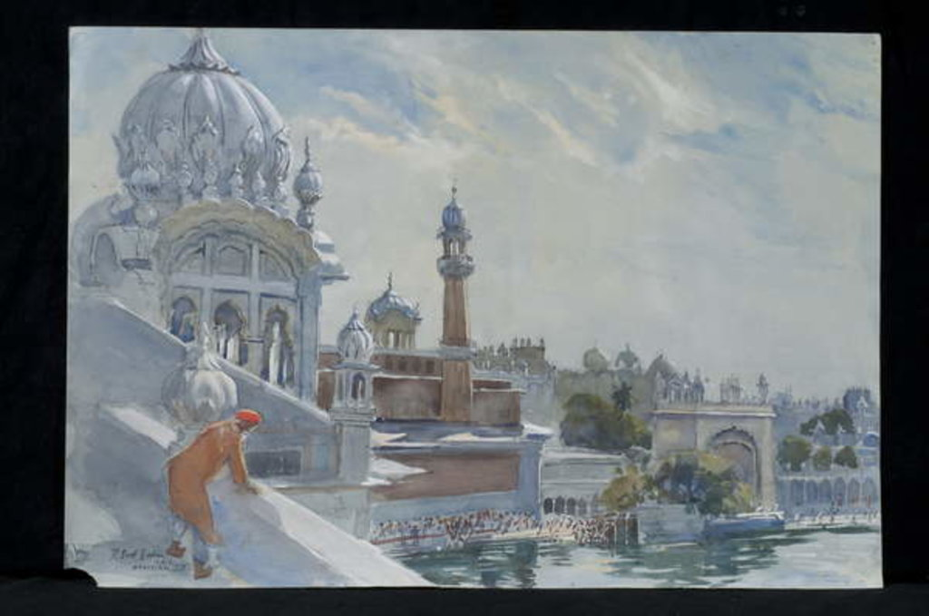 Detail of The Refectory, Golden Temple, Amritsar, 2012 by Tim Scott Bolton