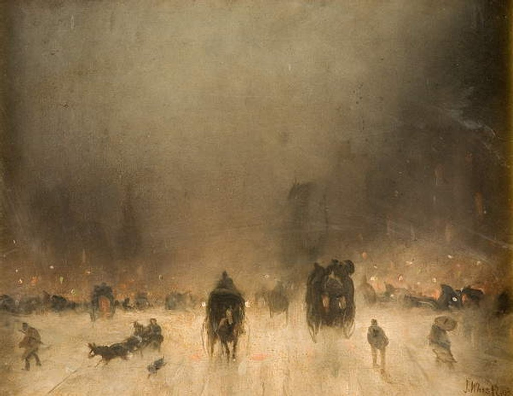 Detail of A Foggy Night in London by James Abbott McNeill Whistler