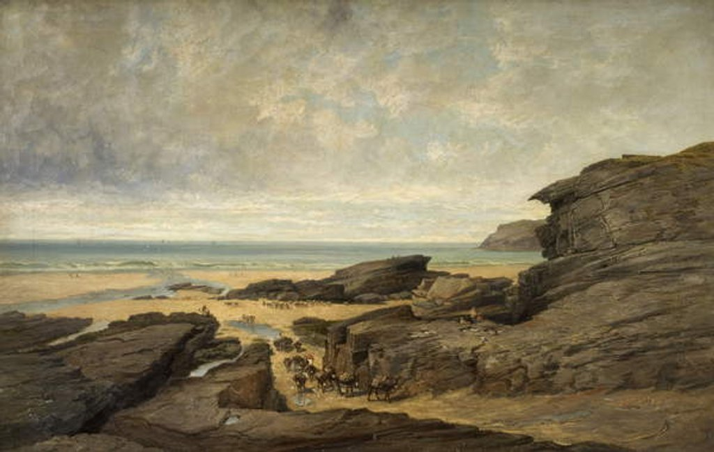 Detail of Low Water, Trebarwith Strand, Tintagel, Cornwall by James Holland