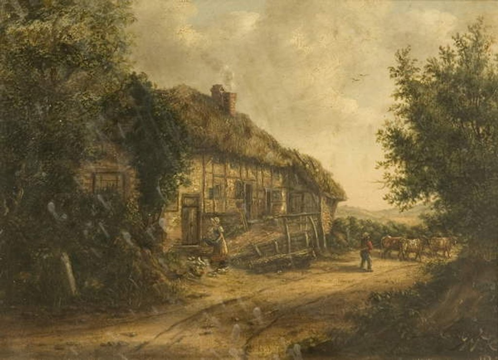 Detail of Cottages at Petersfield Hampshire, 1839 by William Kidd