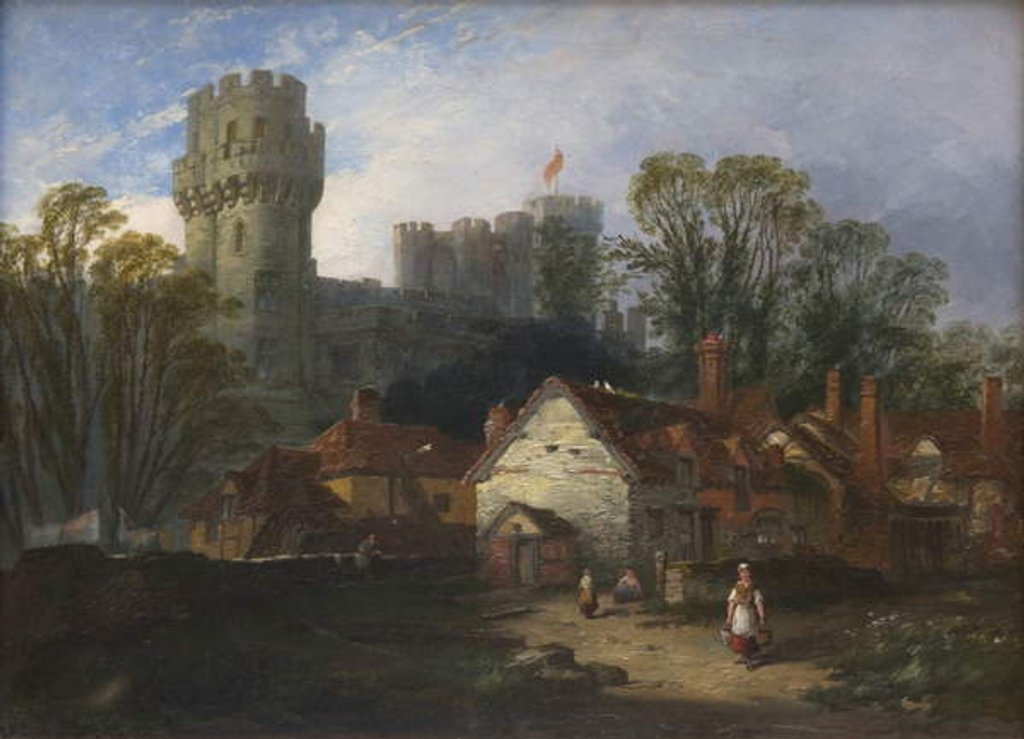 Detail of Warwick Castle, 1852 by William Pitt