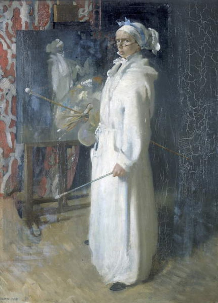 Detail of Portrait of the artist, 1908 by William Orpen