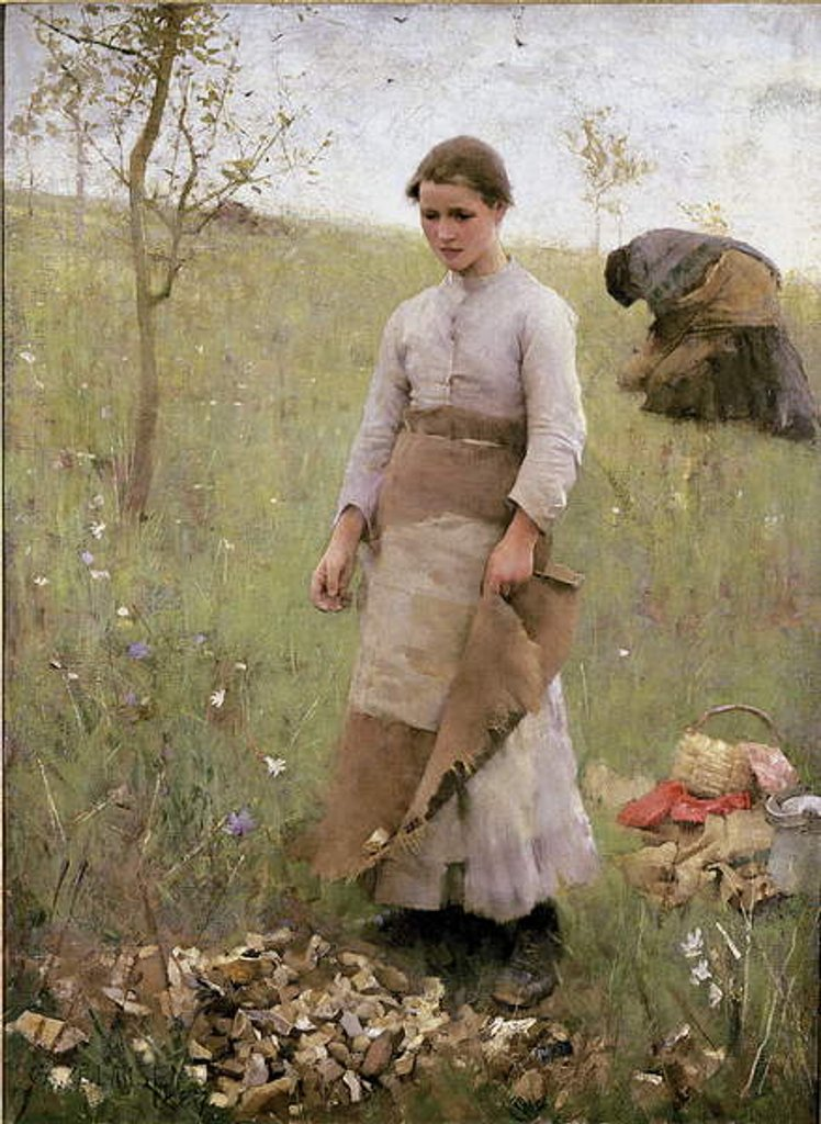 Detail of The Stone Pickers, 1887 by George Clausen