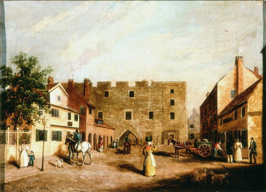 Detail of Newgate, Newcastle upon Tyne, c.1820 by James Russell Ryott