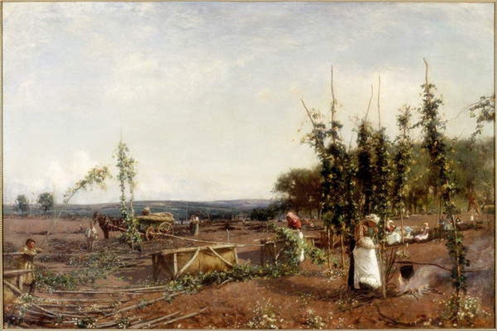 Detail of Nooning in the Hop Gardens, 1889 by David Murray