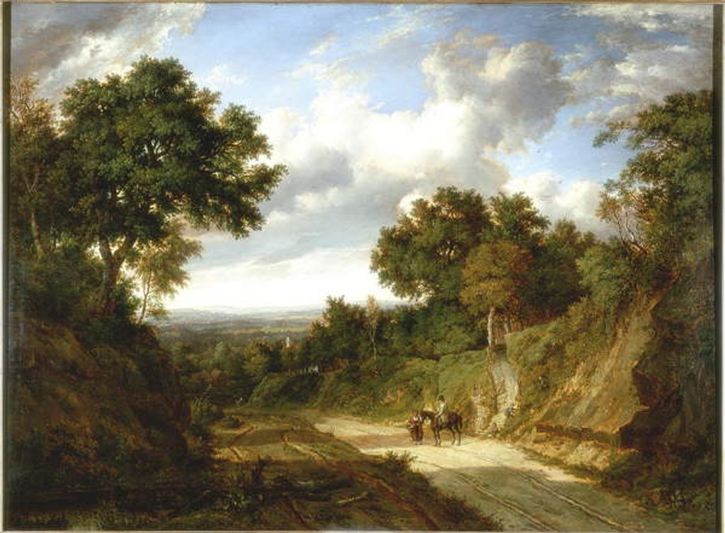 Detail of Landscape with Figures by Patrick Nasmyth