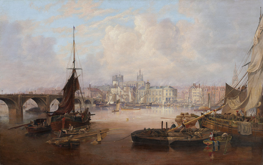 Detail of A View of Newcastle by John Wilson Carmichael