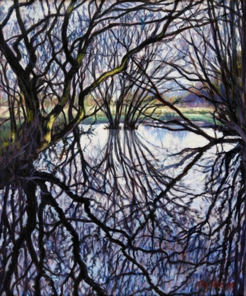 Detail of Pond Reflections by Tilly Willis