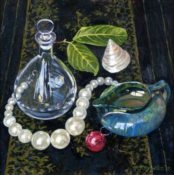 Detail of Still Life with Pearls by Tilly Willis