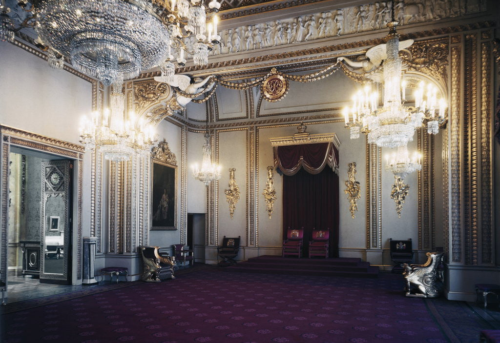 Detail of Ballroom at Buckingham Palace by Corbis