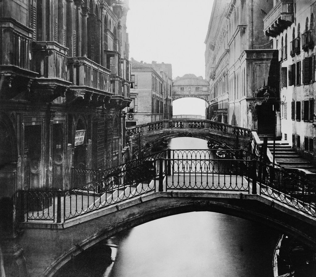 Detail of Distant View of Bridge of Sighs by Corbis